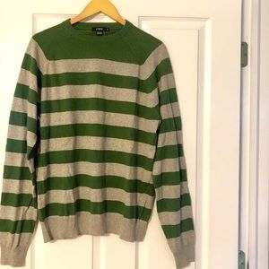 JCrew Men's crew neck stripped sweater.